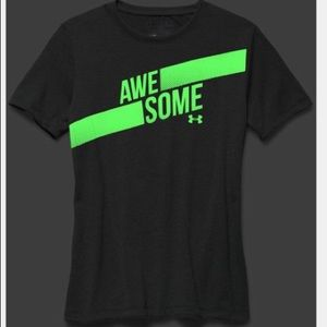 NEW Under Armour GLOW N DARK Tee HEATGEAR Girls S